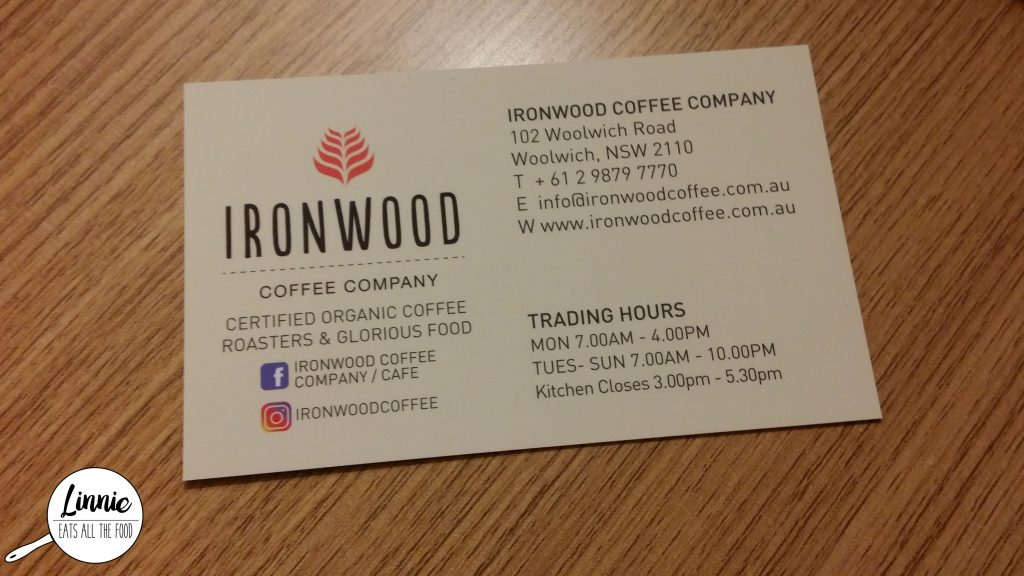 Nsw Ironwood Coffee Company Cafe Restaurant Woolwich Linnie Eats All The Food