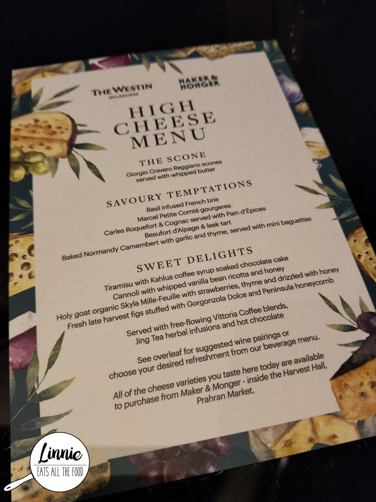 Maker and monger high tea at the lobby lounge the westin melbourne when i heard that there was a cheese high tea at westin hotel in collaboration with maker monger i had to make a reservation at once stopboris Choice Image
